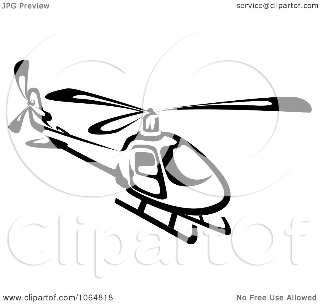 Clipart Black And White Helicopter - Royalty Free Vector ... for Helicopter Clipart Black And White  181obs