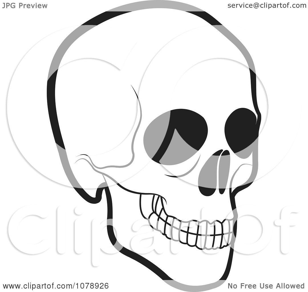 Clipart Black And White Human Skull