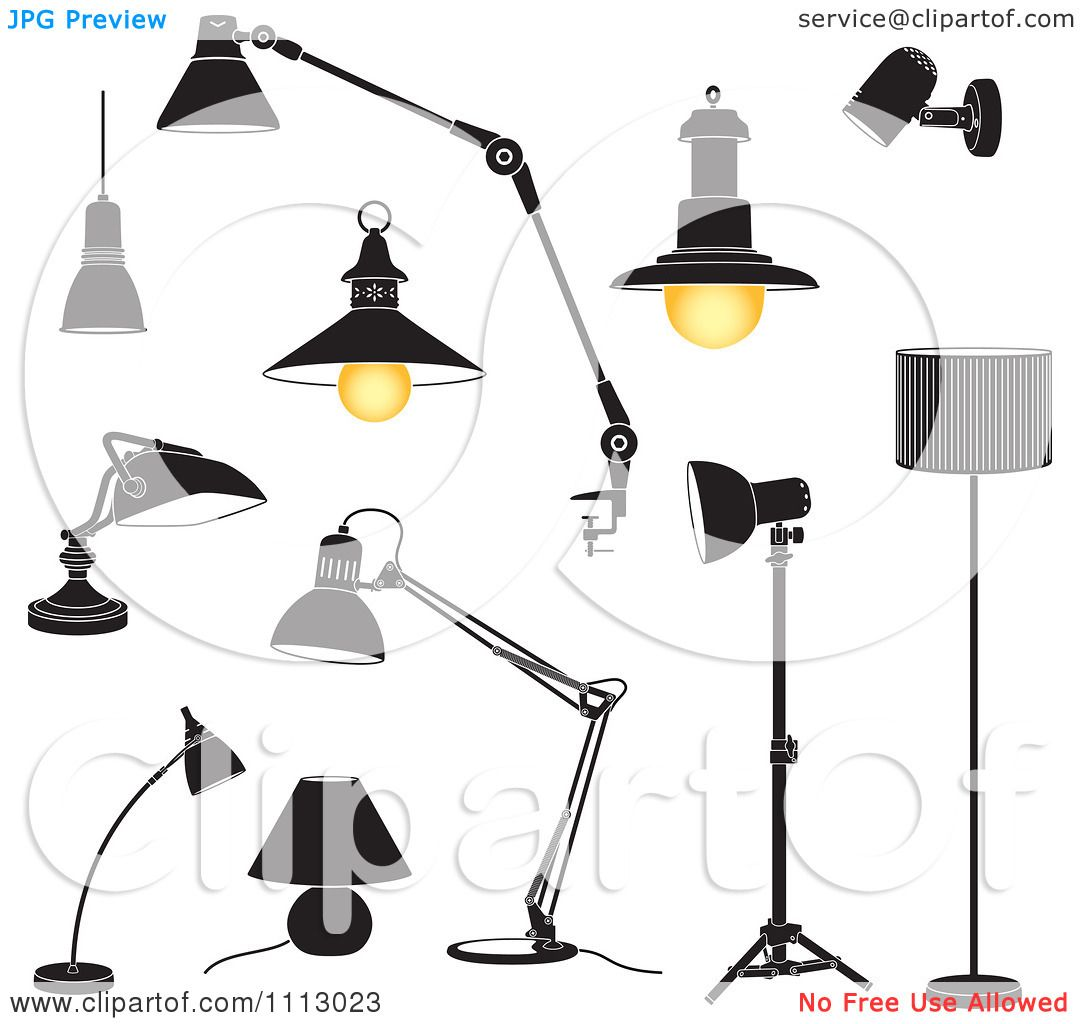 Black Ceiling Lamp Royalty Free Vector Image: Clipart Black And White Lamps