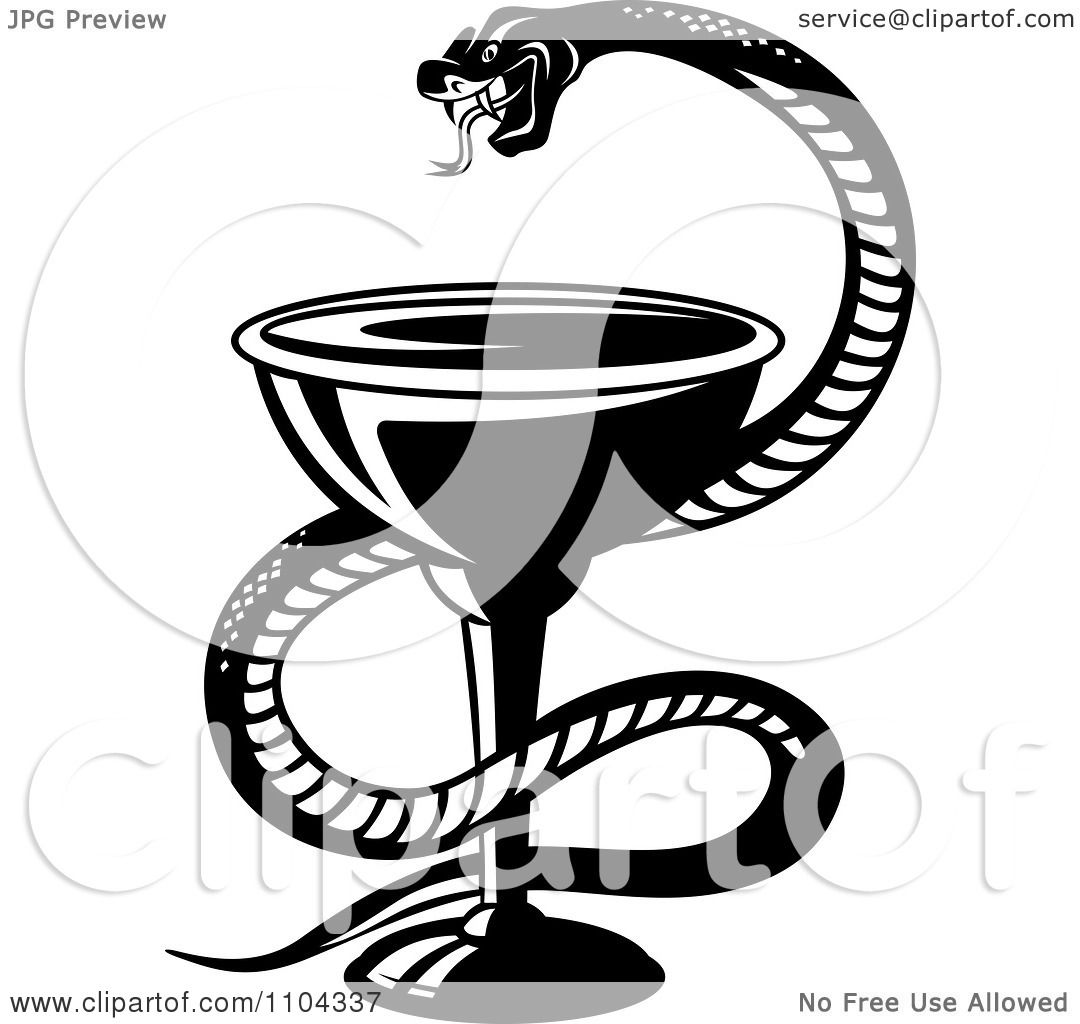 Тату змея с чашей