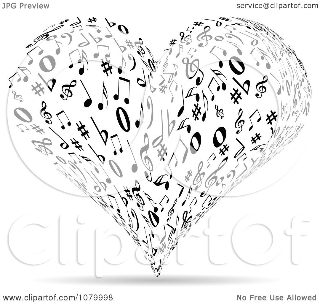 Line Art Resolution : Clipart black and white music note heart royalty free