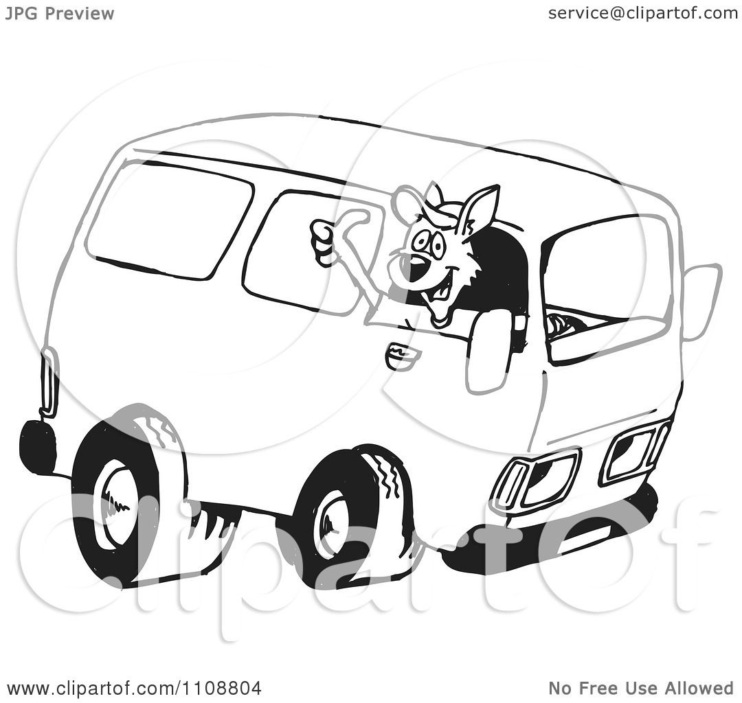 van black and white clipart - photo #46