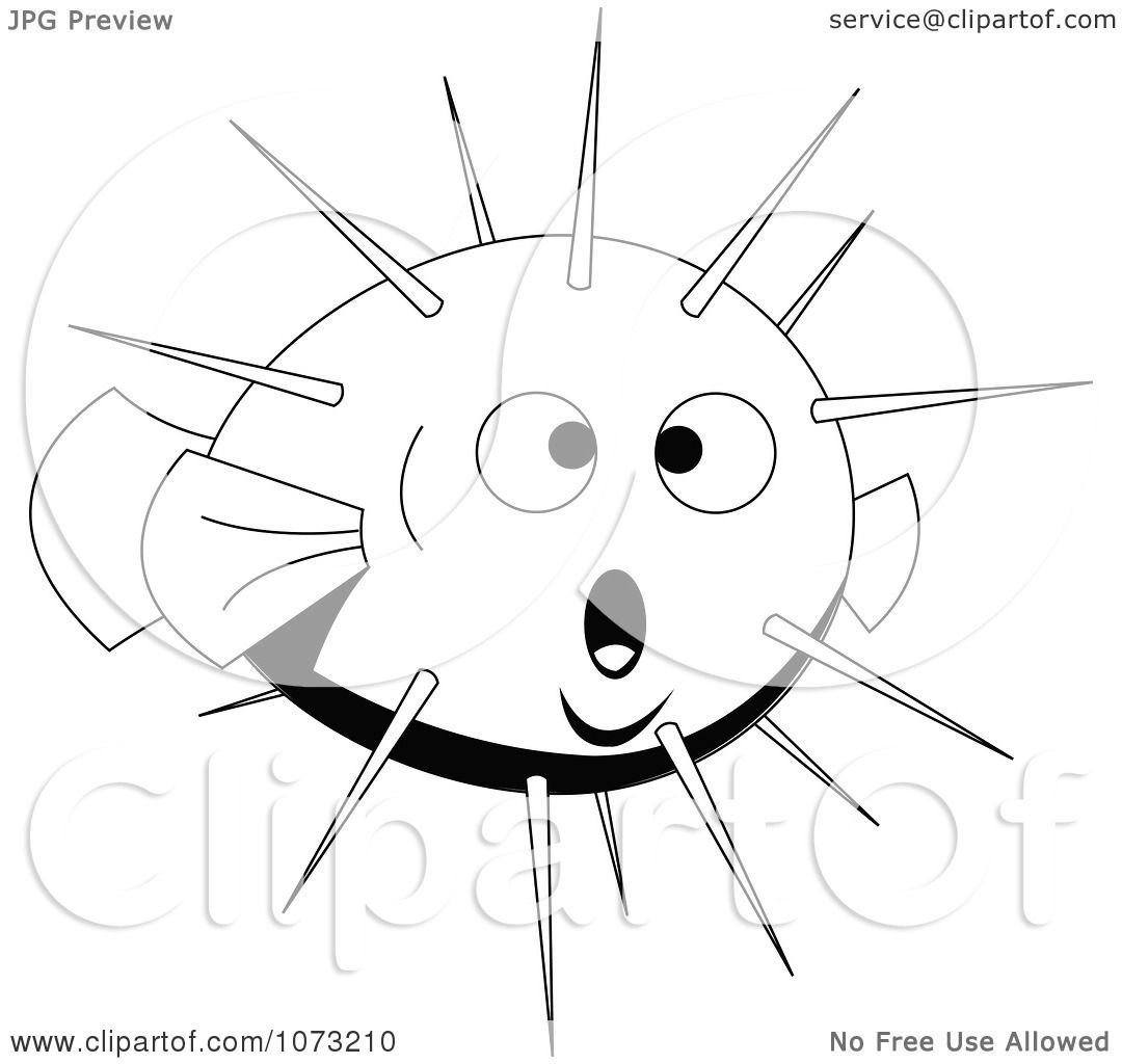 Clipart Black And White Puffer