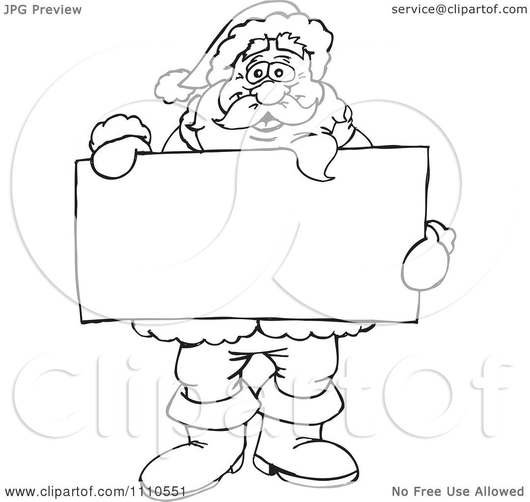 free black and white santa clipart - photo #49