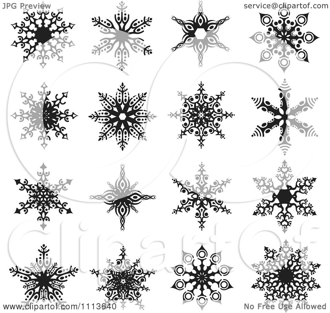 1080 x 1024 · 307 kB · jpeg, Snowflake Clip Art Black and White