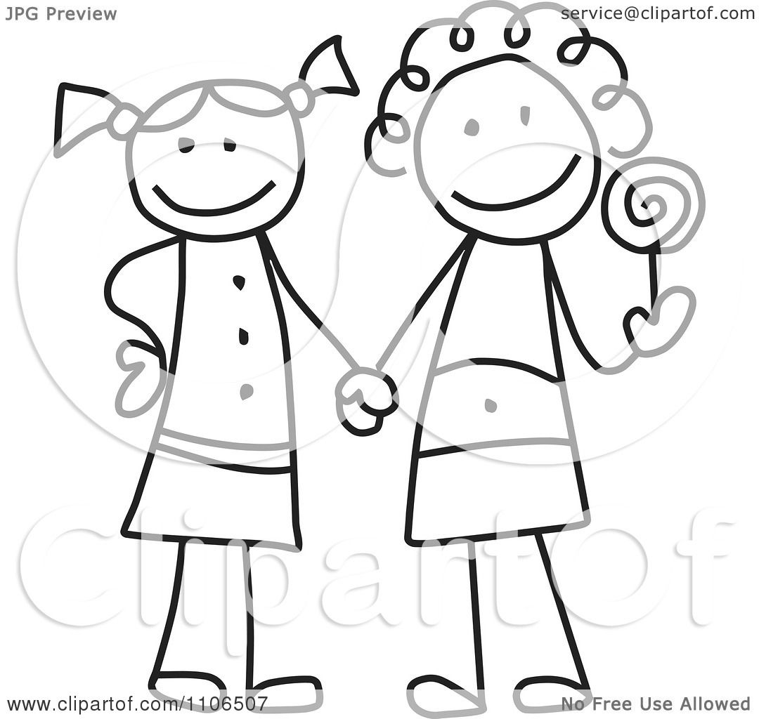 friends holding hands coloring pages - photo#46