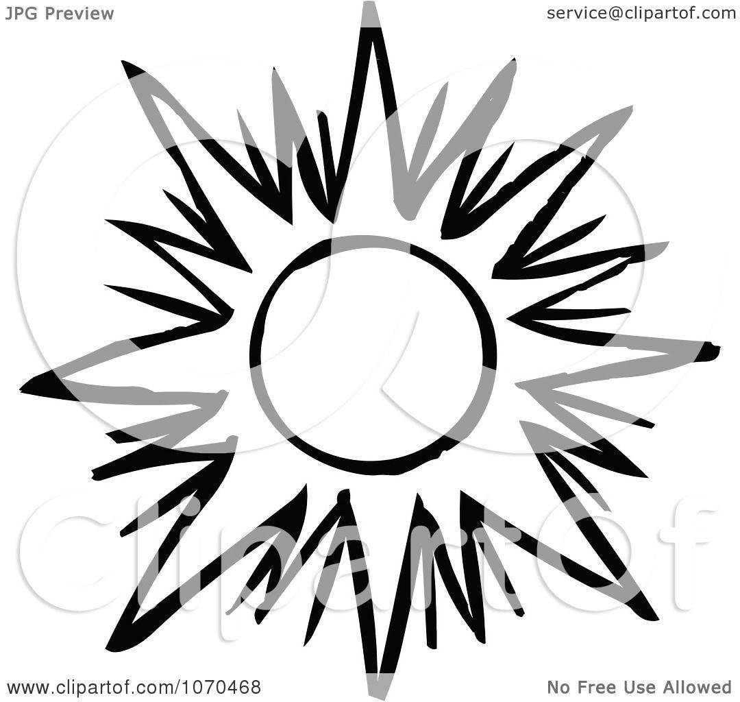 Clipart Black And White Sun 1 - Royalty Free Vector ...