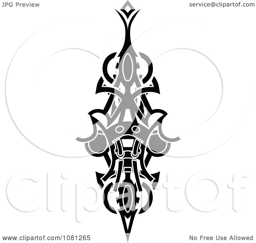 clipart black and white tribal tattoo design element royalty free vector illustration by. Black Bedroom Furniture Sets. Home Design Ideas