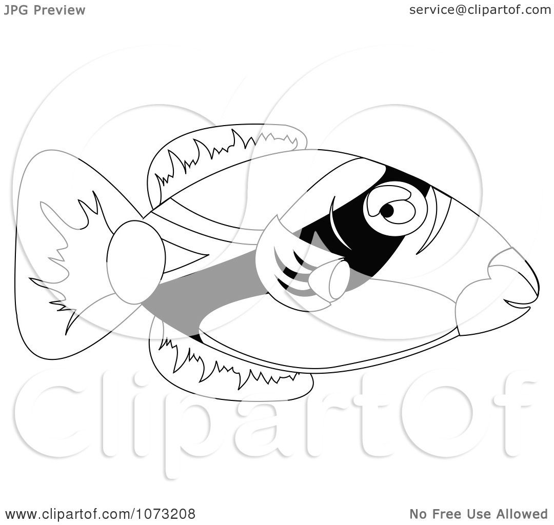 trigger fish coloring pages - photo#24