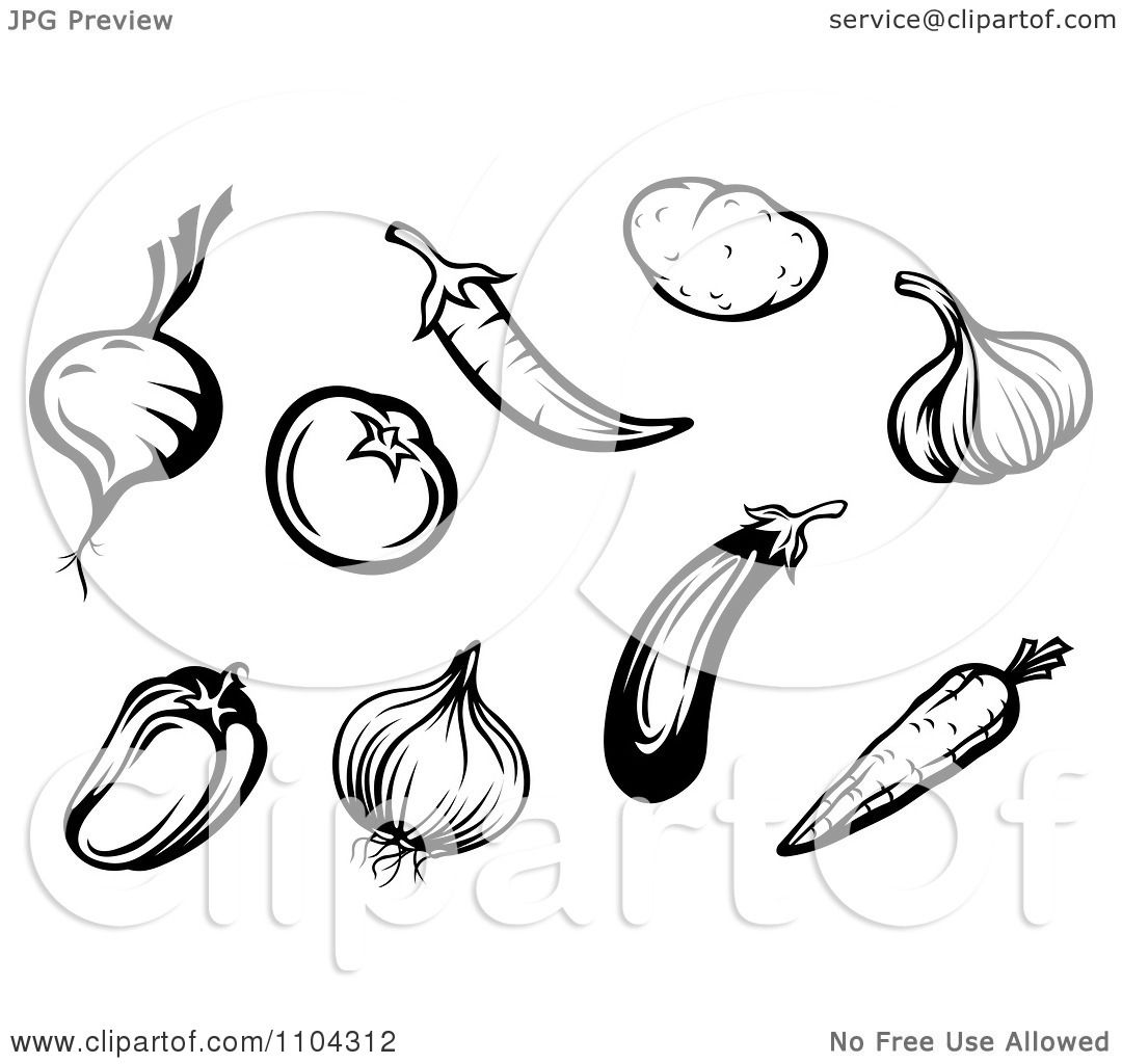 clipart black and white vegetables a beet or onion tomato peppers garlic carrot potato and Martini Glass Silhouette Martini Glass Silhouette