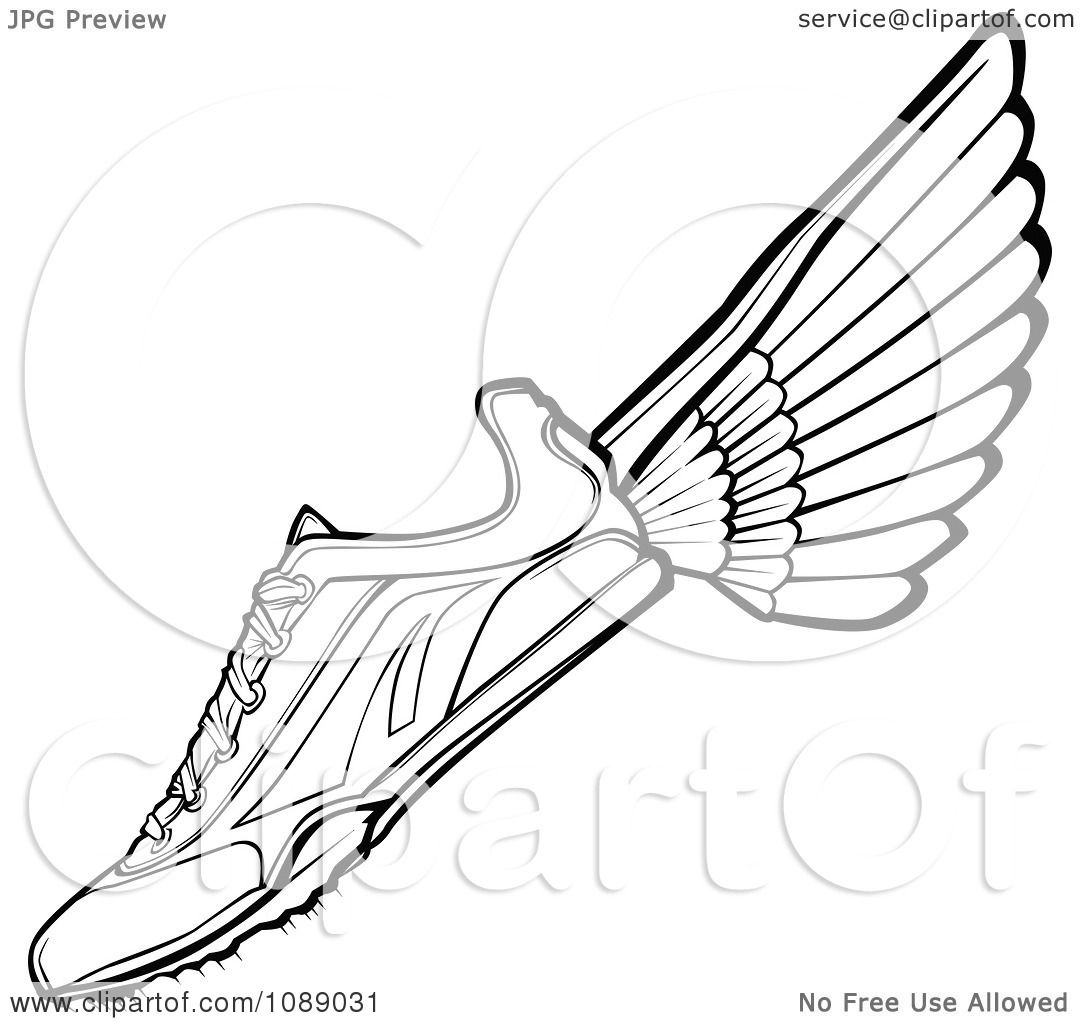 Running shoes free colouring pages for Running shoe coloring page