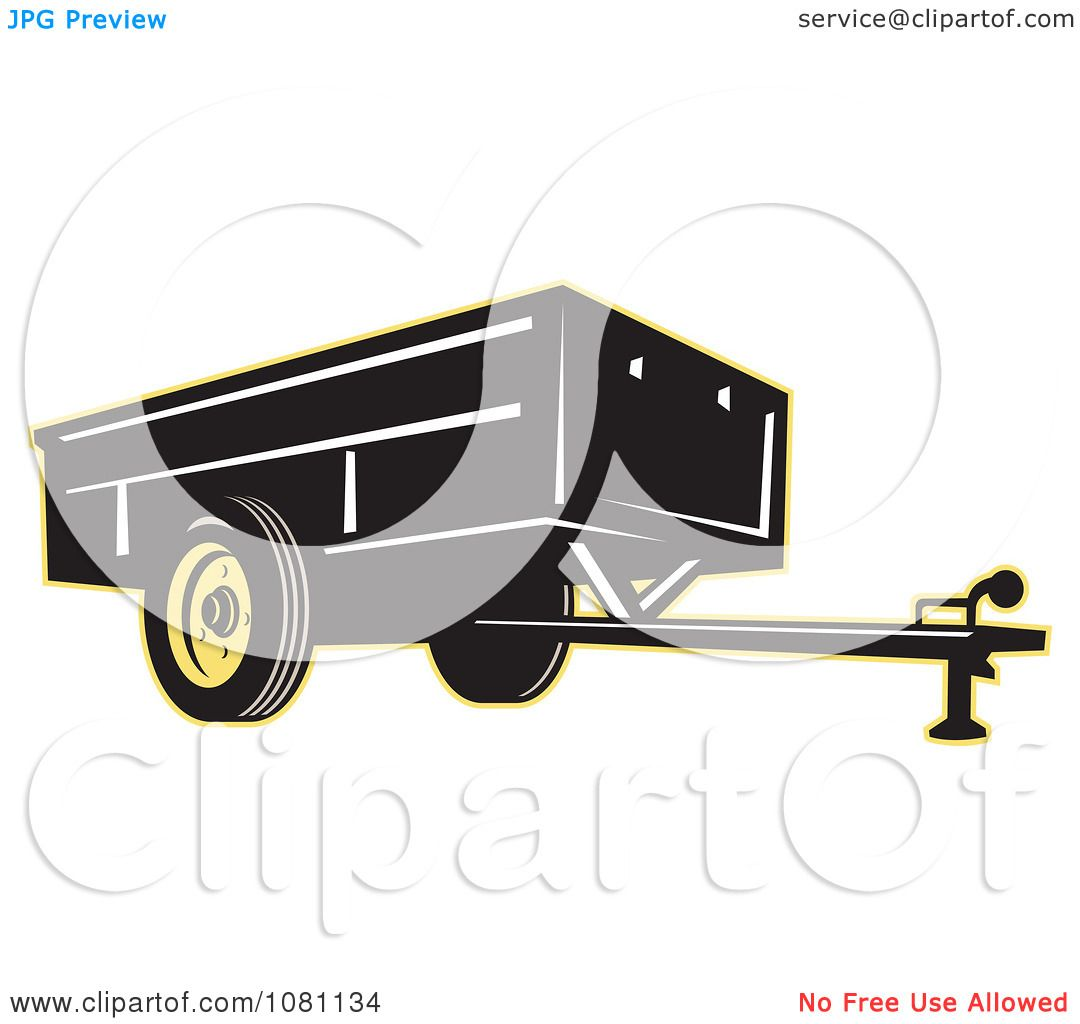 Clipart Black And Yellow Trailer - Royalty Free Vector ...