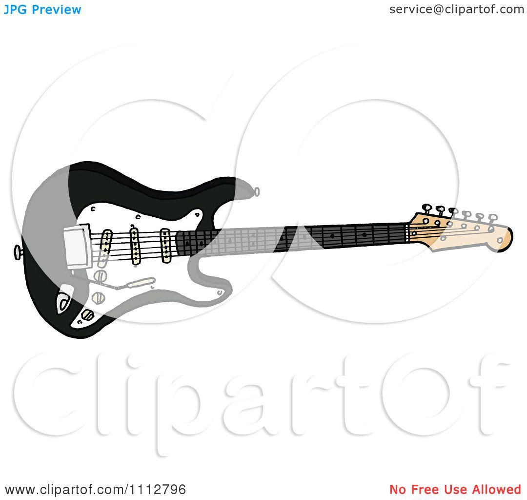 clipart black fender stratocaster electric guitar royalty free vector illustration by lafftoon. Black Bedroom Furniture Sets. Home Design Ideas