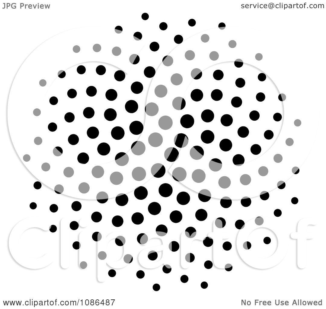 Clipart Black Spiral Fibonacci Golden Ratio Mathematics Dot Pattern Royalty Free Illustration
