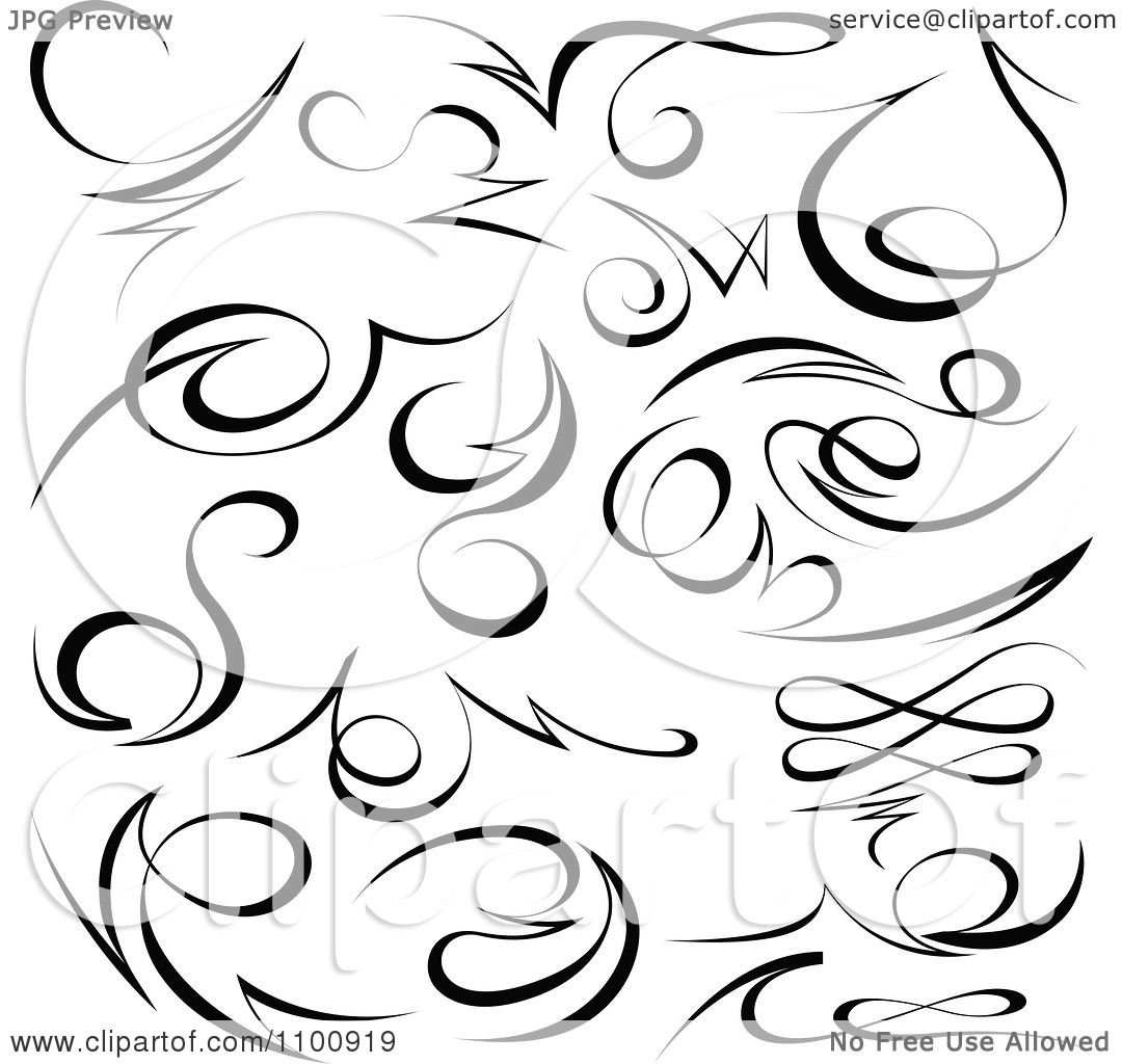 clipart black tribal swirl calligraphic design elements royalty free vector illustration by. Black Bedroom Furniture Sets. Home Design Ideas