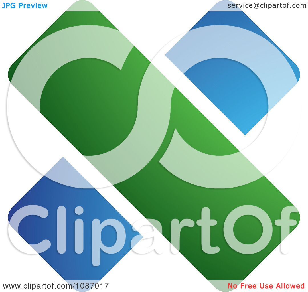 Clipart Blue And Green Division Symbol - Royalty Free ...