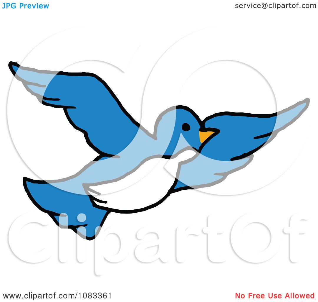 Blue And White Bird In Flight 1083361 on Easter Coloring Pages