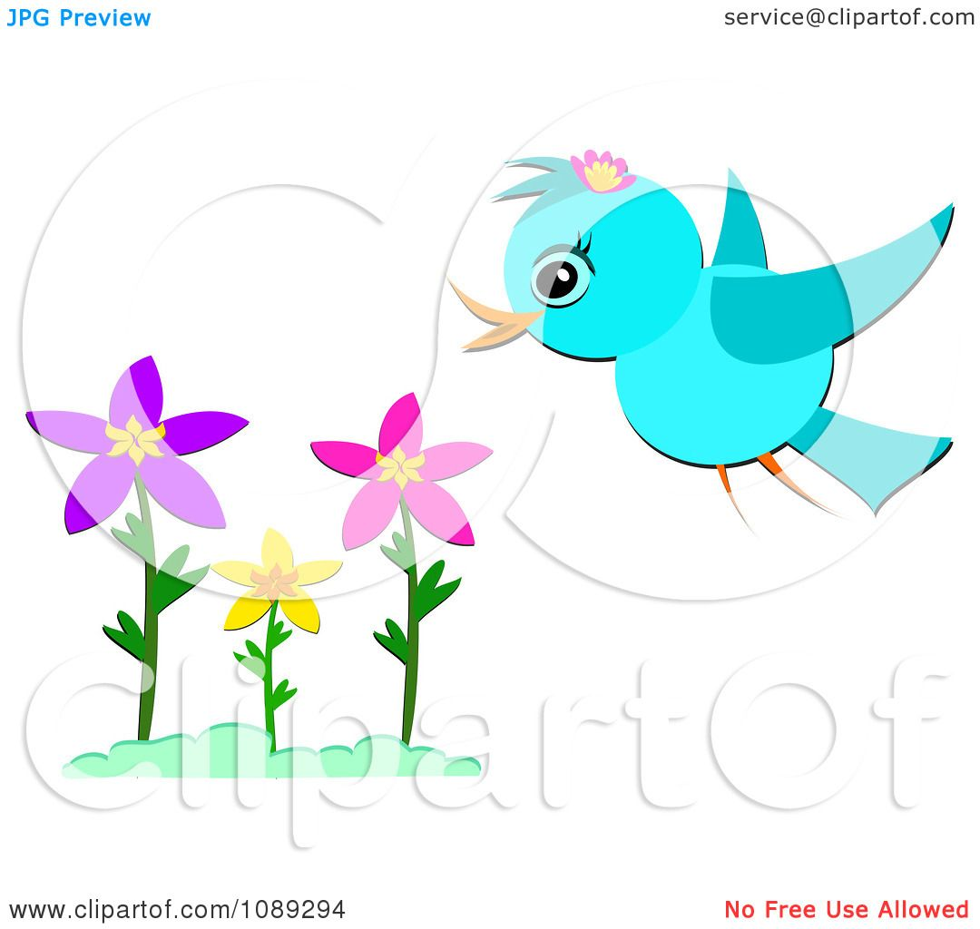 clipart flowers and birds - photo #47