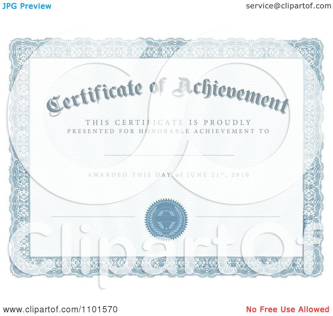 certificate achievement template – Certificates of Achievement Free Templates