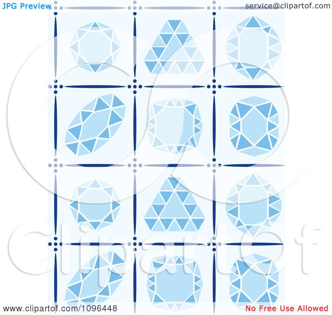 Clipart Blue Diamond Cuts