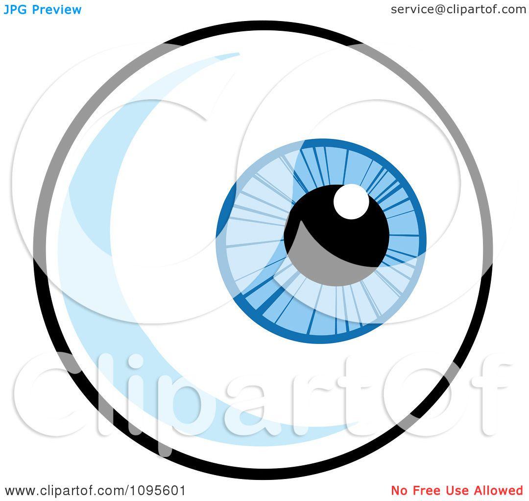 clipart blue eyeball looking right royalty free vector rh clipartof com eyeball vector png