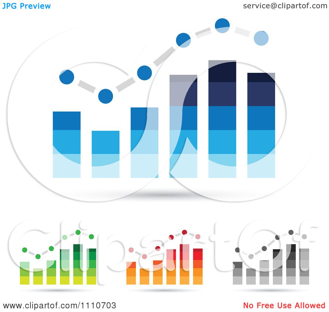 Bar Graphs Royalty Free