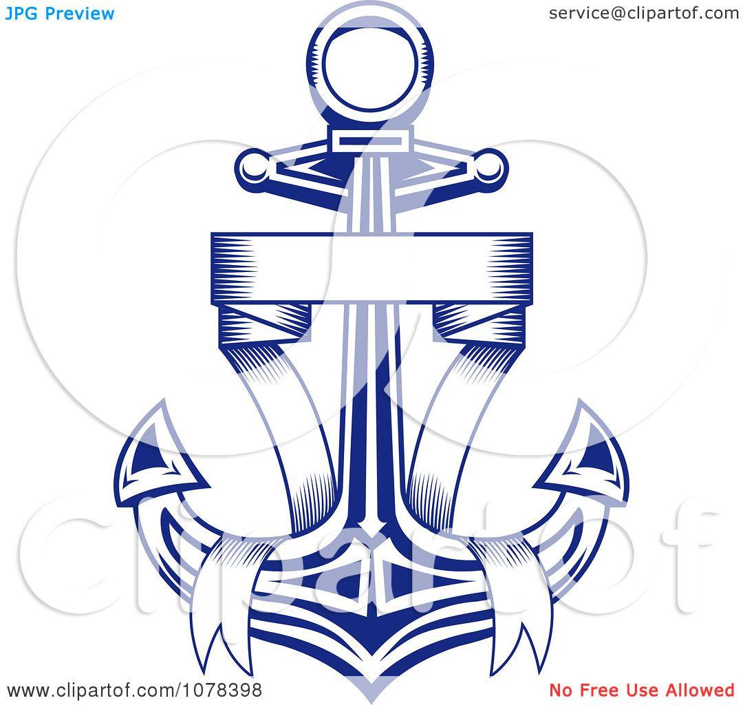 Nautical Anchor Clip Art Clipart blue ribbon and