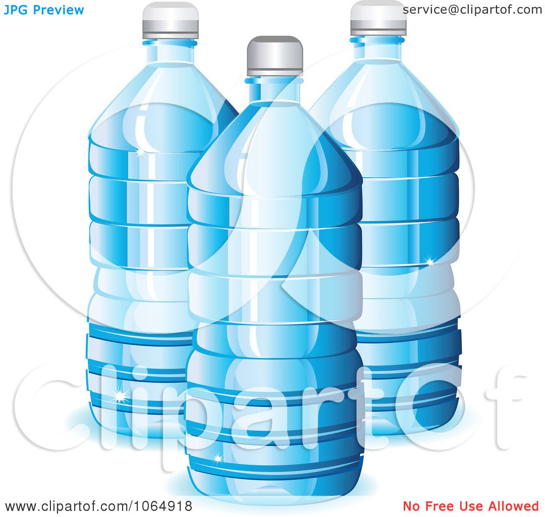 Clipart Blue Water Bottles - Royalty Free Vector ...