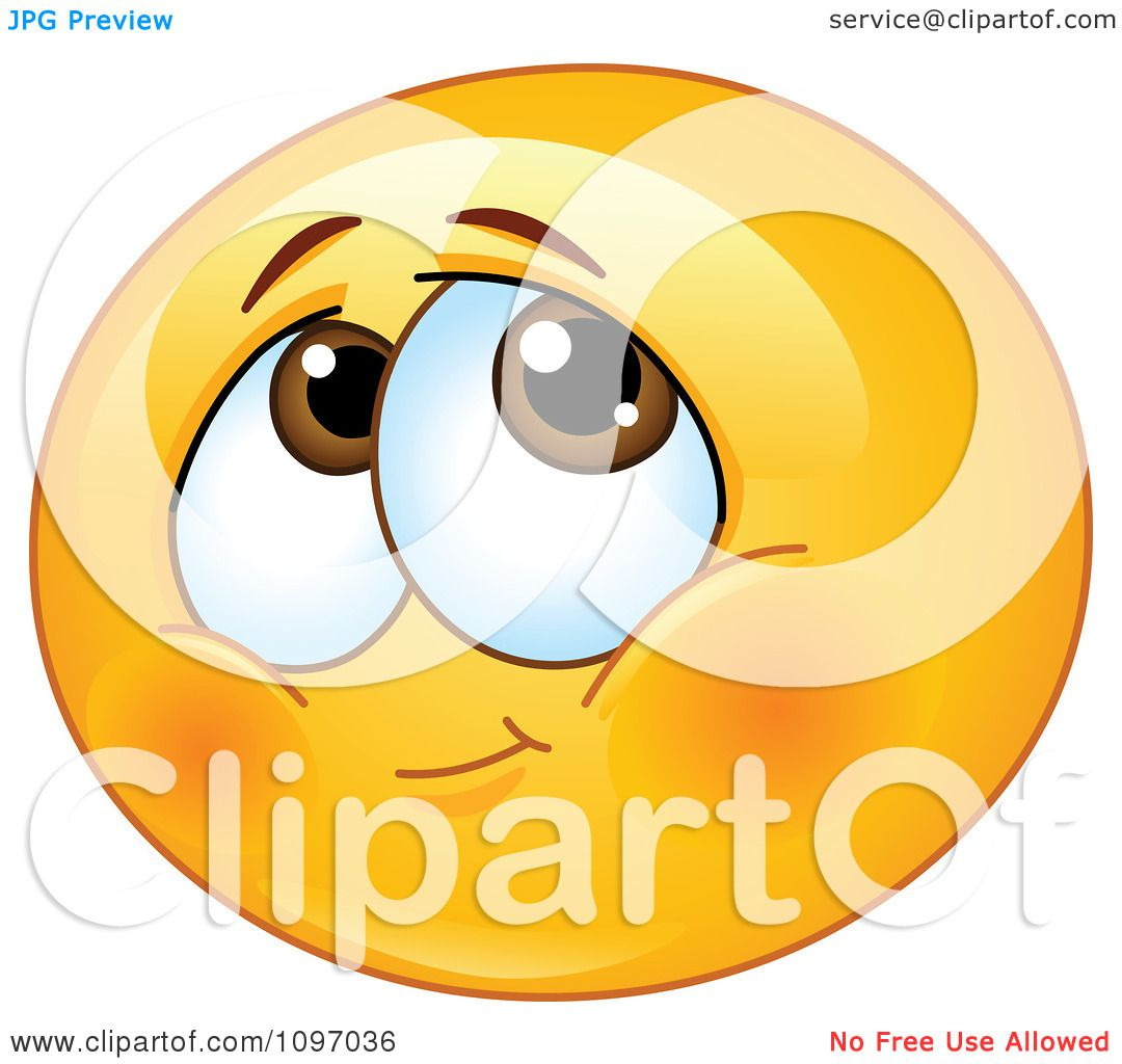 Clipart Blushing Shy Emoticon Royalty Free Vector
