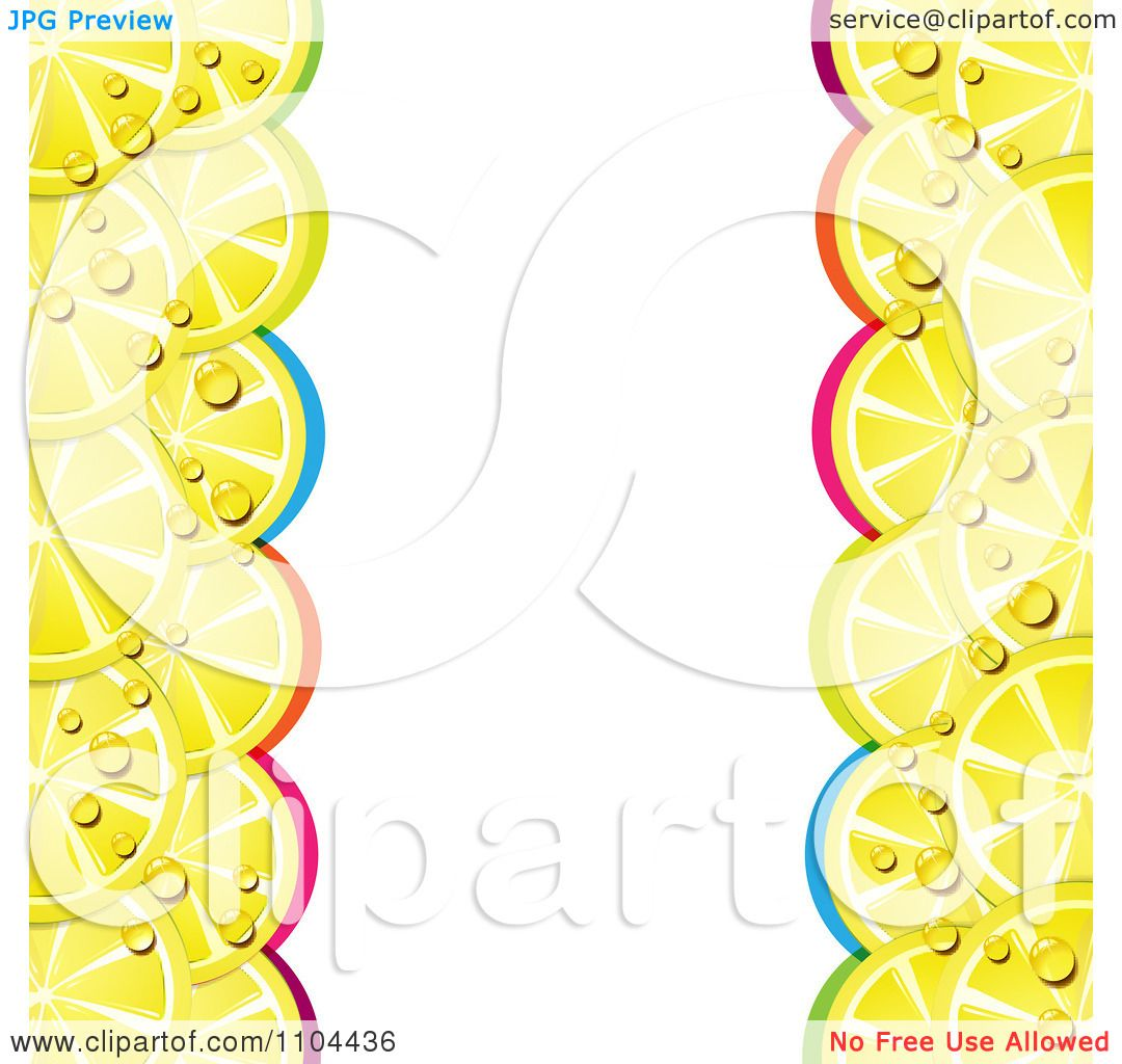 clipart border of juicy lemon slices and colorful arches royalty rh clipartof com