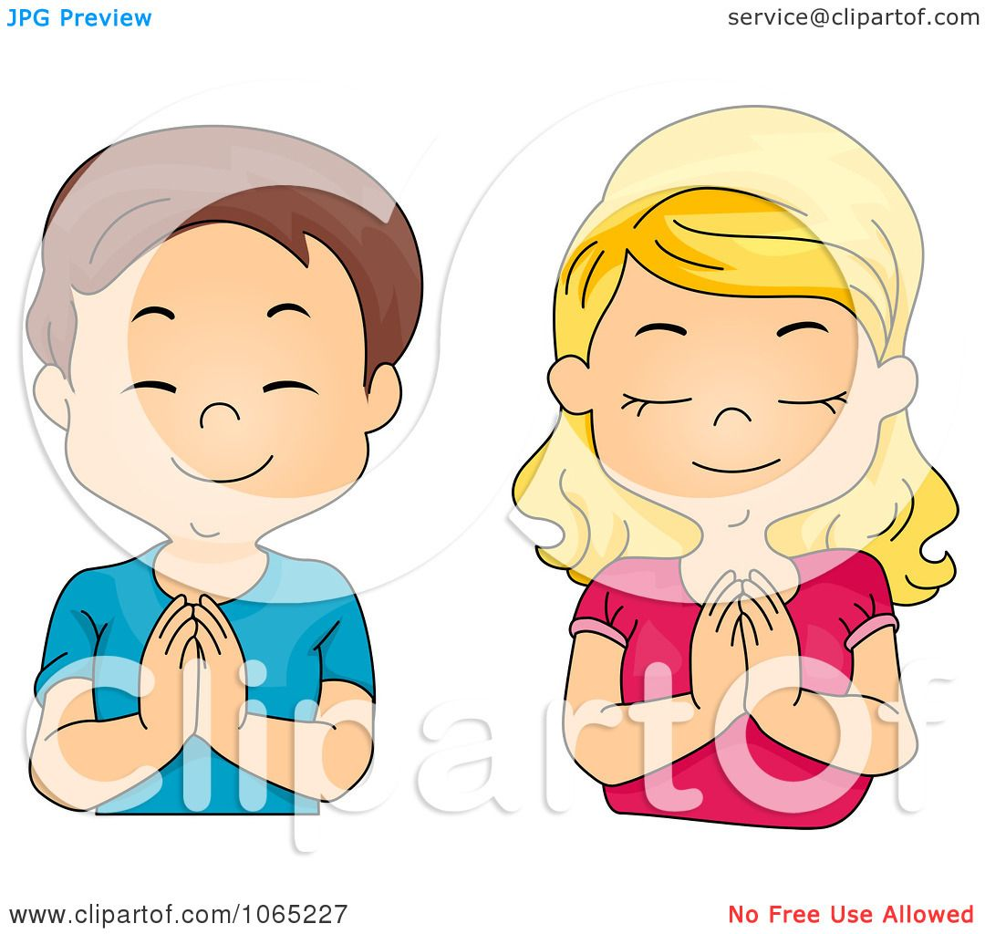 clipart boy and girl praying royalty free vector illustration by rh clipartof com African American Woman Praying Clip Art Mother Praying Clip Art