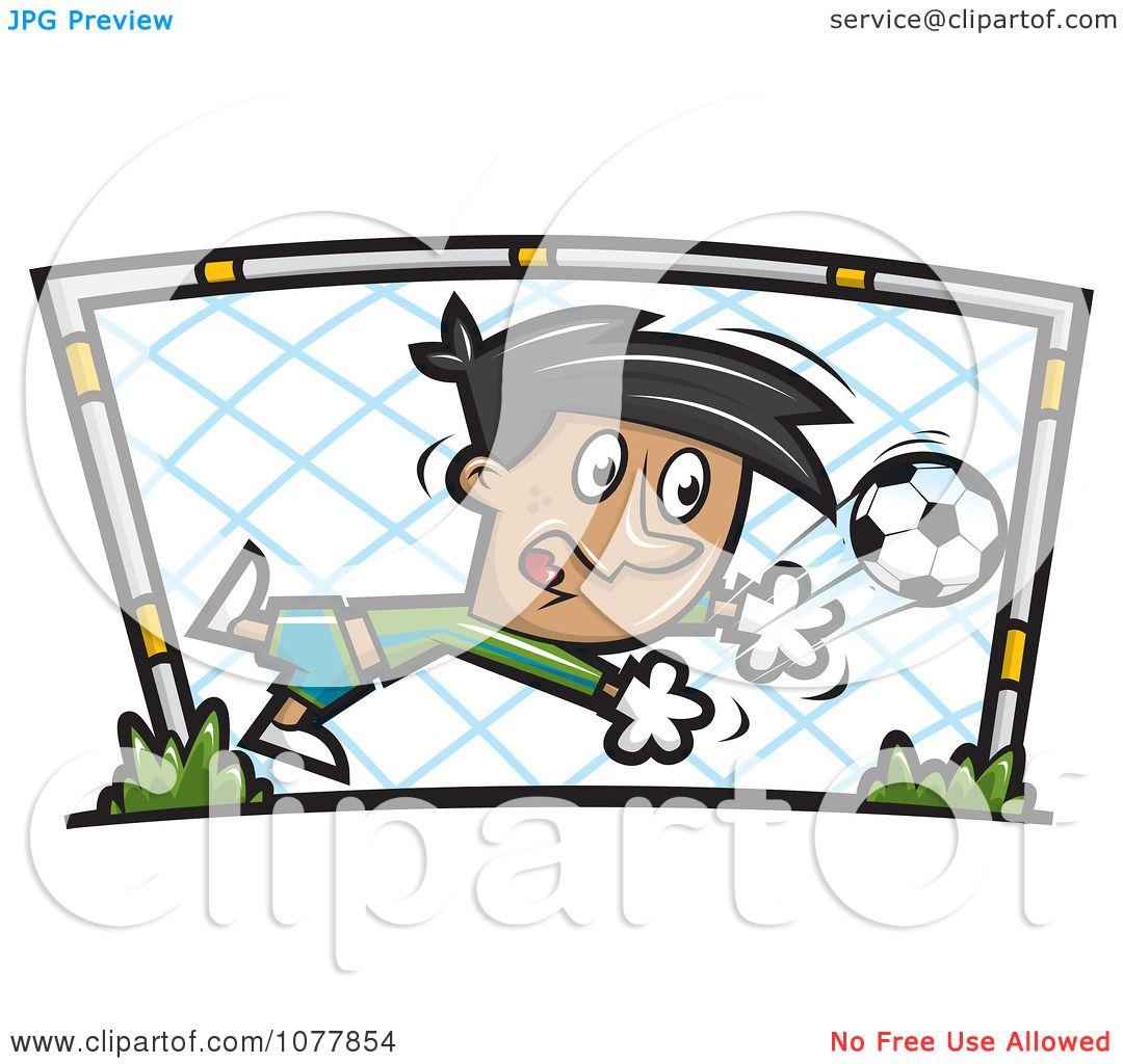 Clipart Boy Soccer Goalie - Royalty Free Vector Illustration by jtoons #1077854