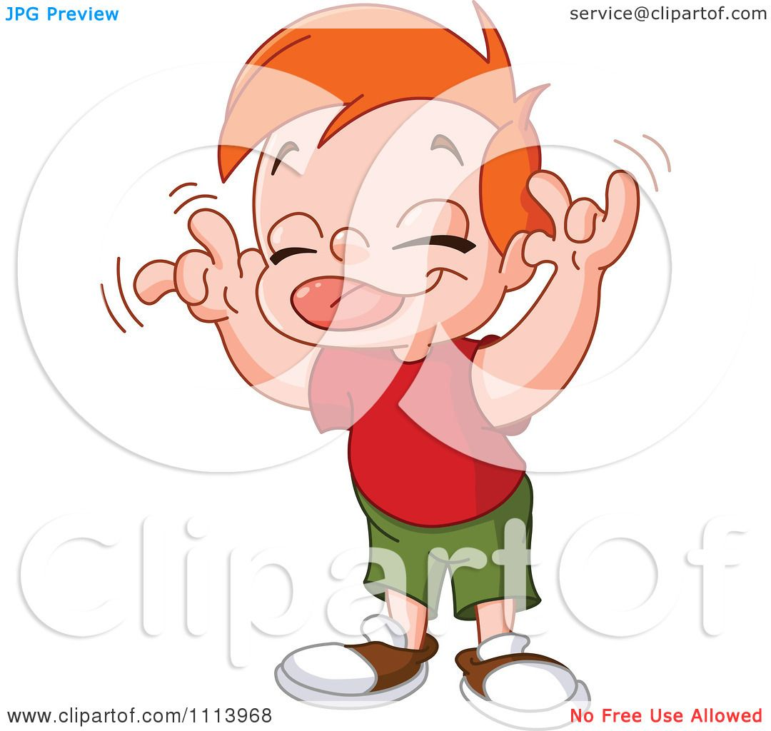 Clipart Boy Teasing Sticking His Tongue Out And Wiggling