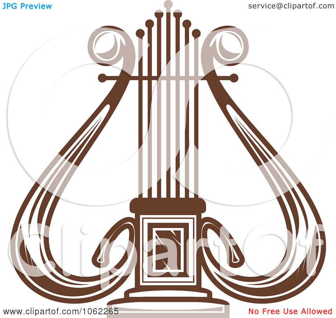 Clipart Brown Lyre - Royalty Free Vector Illustration by ...