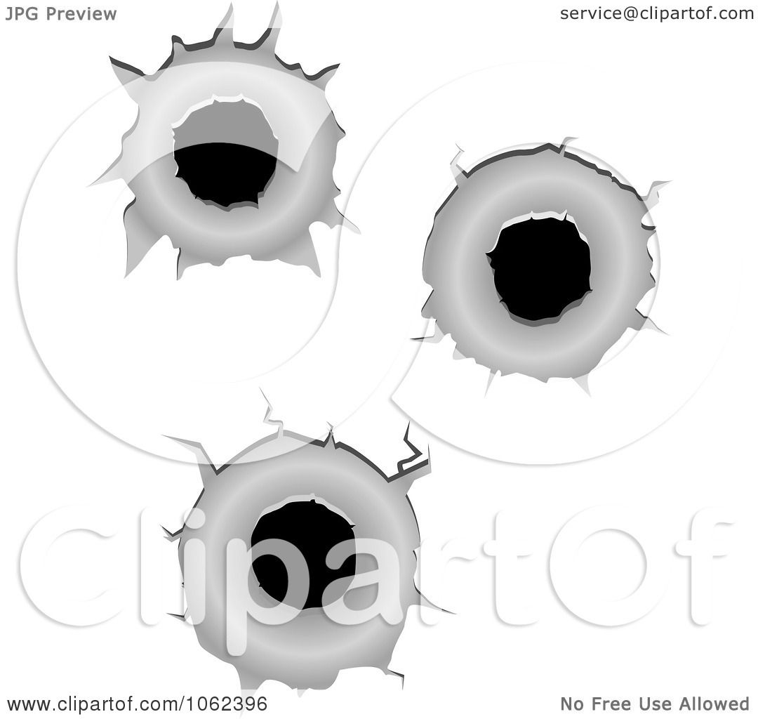 Clipart Bullet Holes Digital Collage - Royalty Free Vector ...
