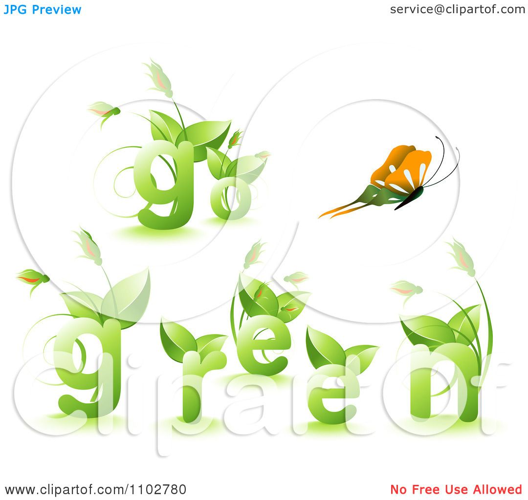 Clipart Butterfly And Go Green