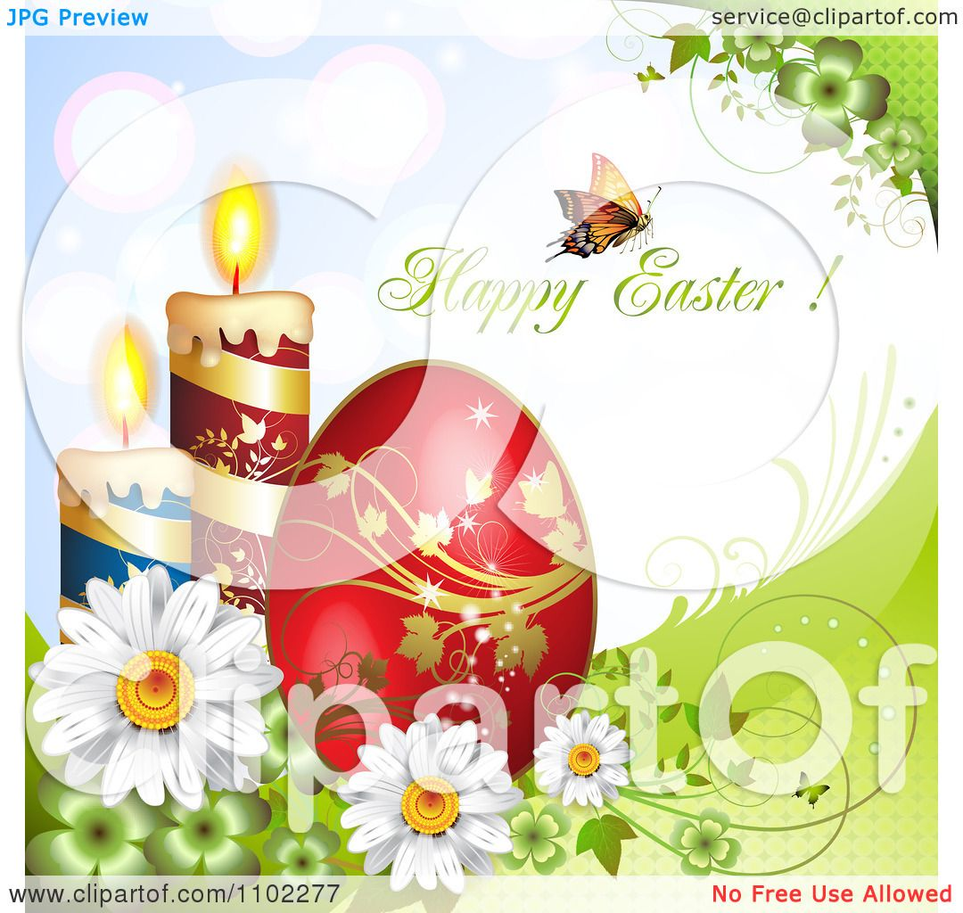 Easter Candle Clip Art Clipart butterfly with happy