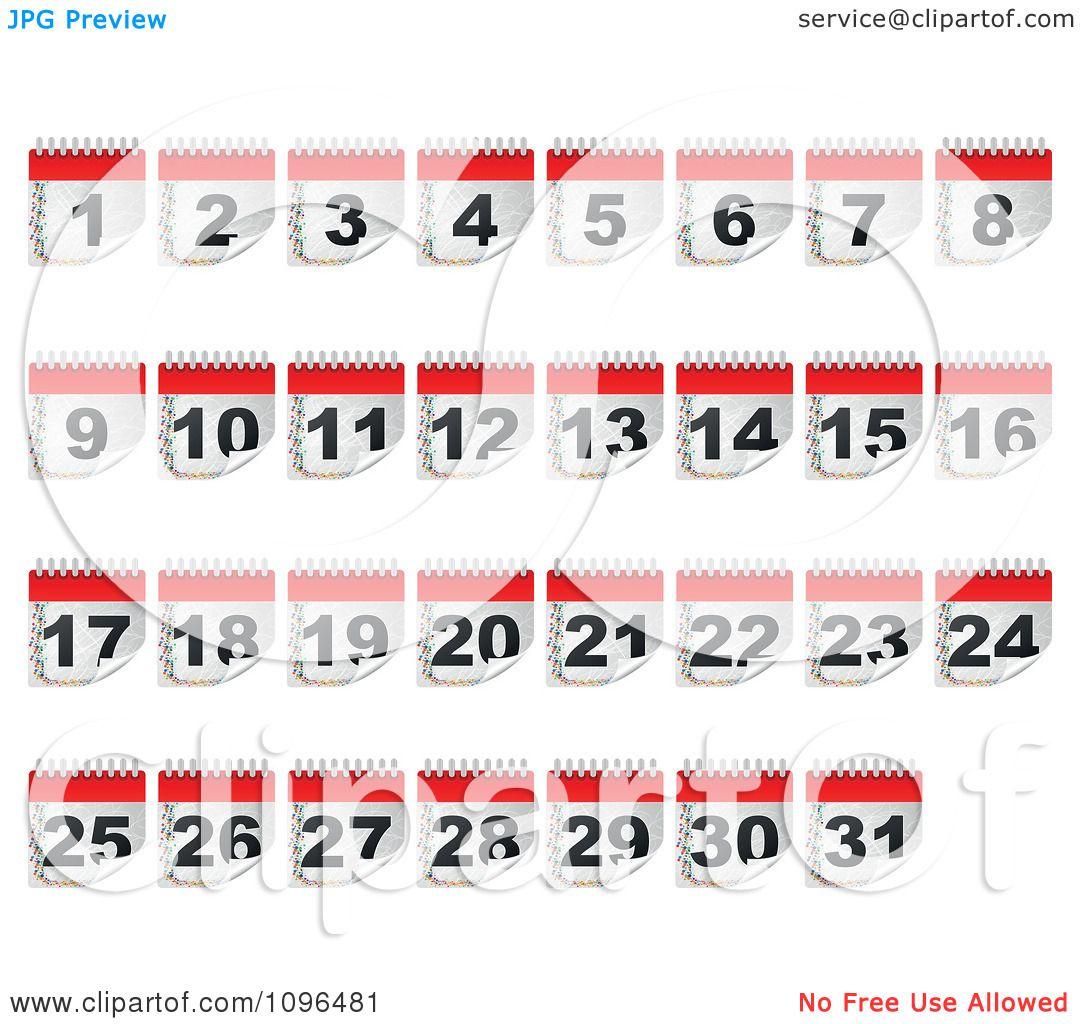 January Calendar Clip Art Clipart calendar day icons