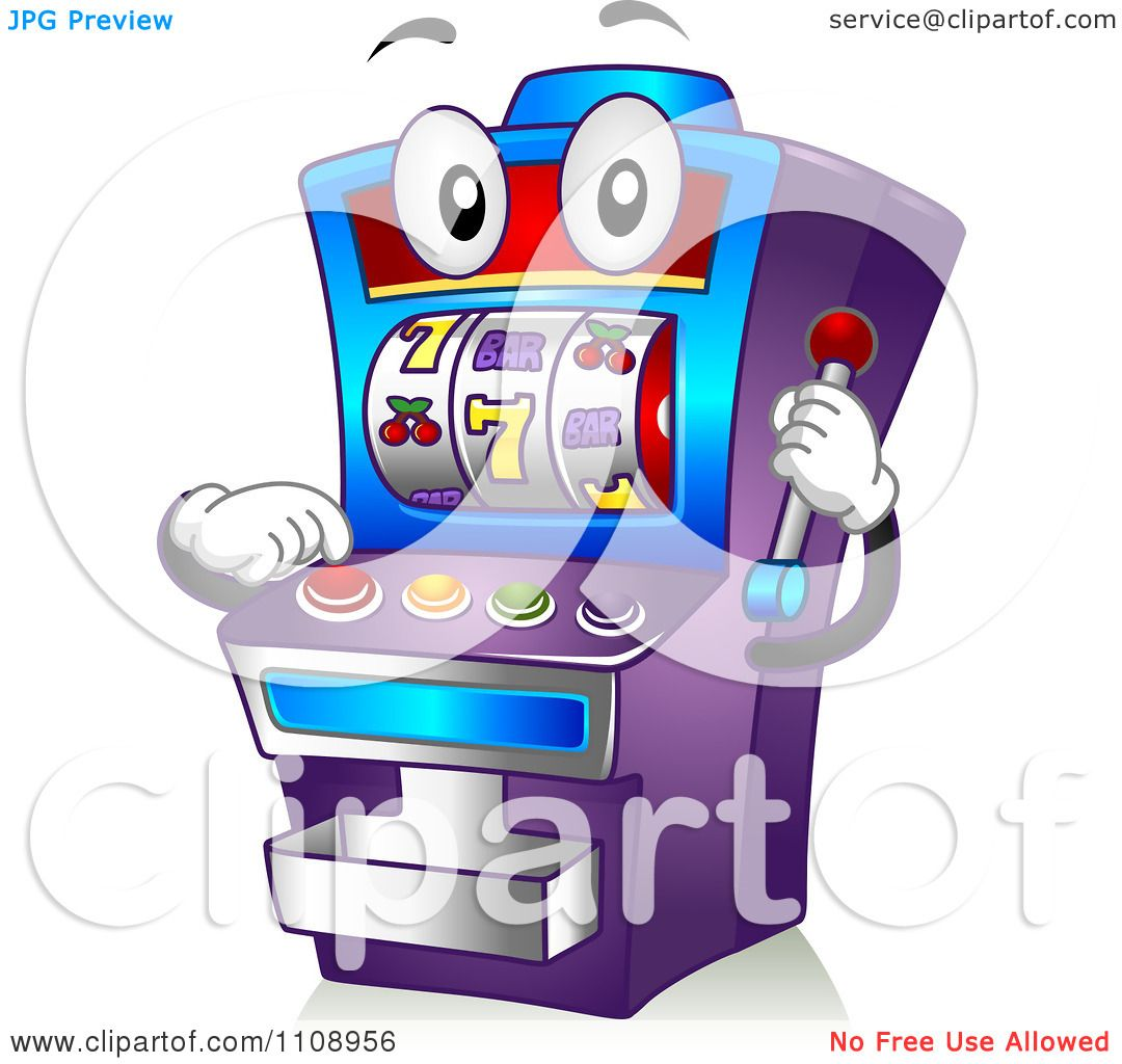 Clipart Casino Slot Machine Mascot Royalty Free Vector