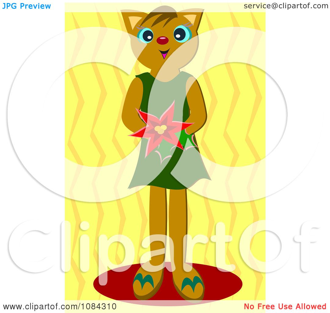 clipart girl holding flowers - photo #43