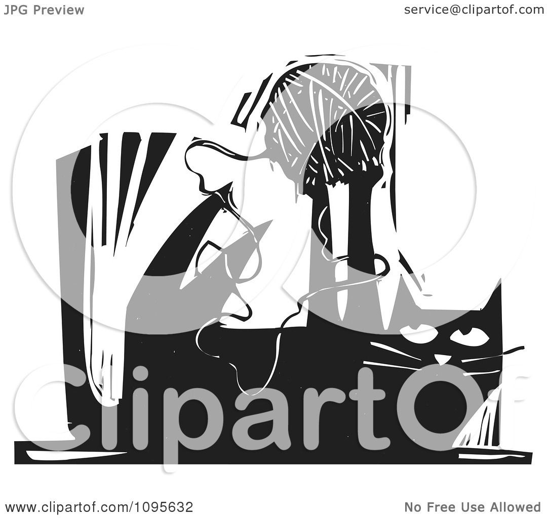 Clipart Cat Playing With A Ball
