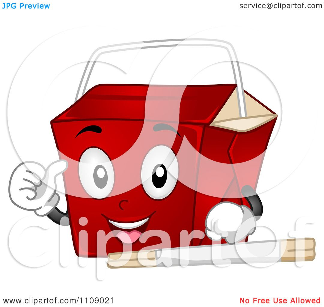 Clipart Chinese Food Take Out Box Mascot - Royalty Free Vector ...