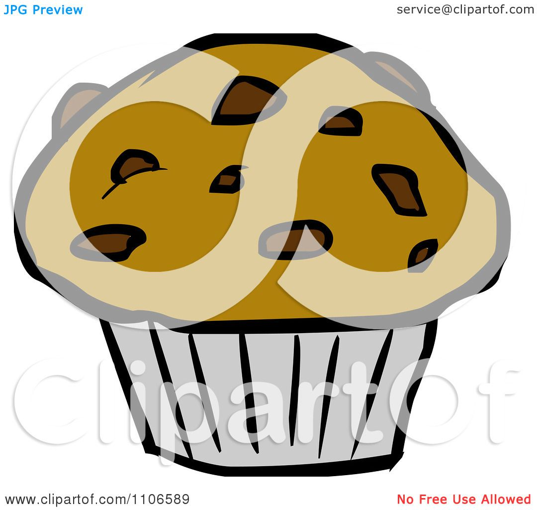 Clipart Chocolate Chip Muffin Royalty Free Vector Illustration By Cartoon Solutions 1106589