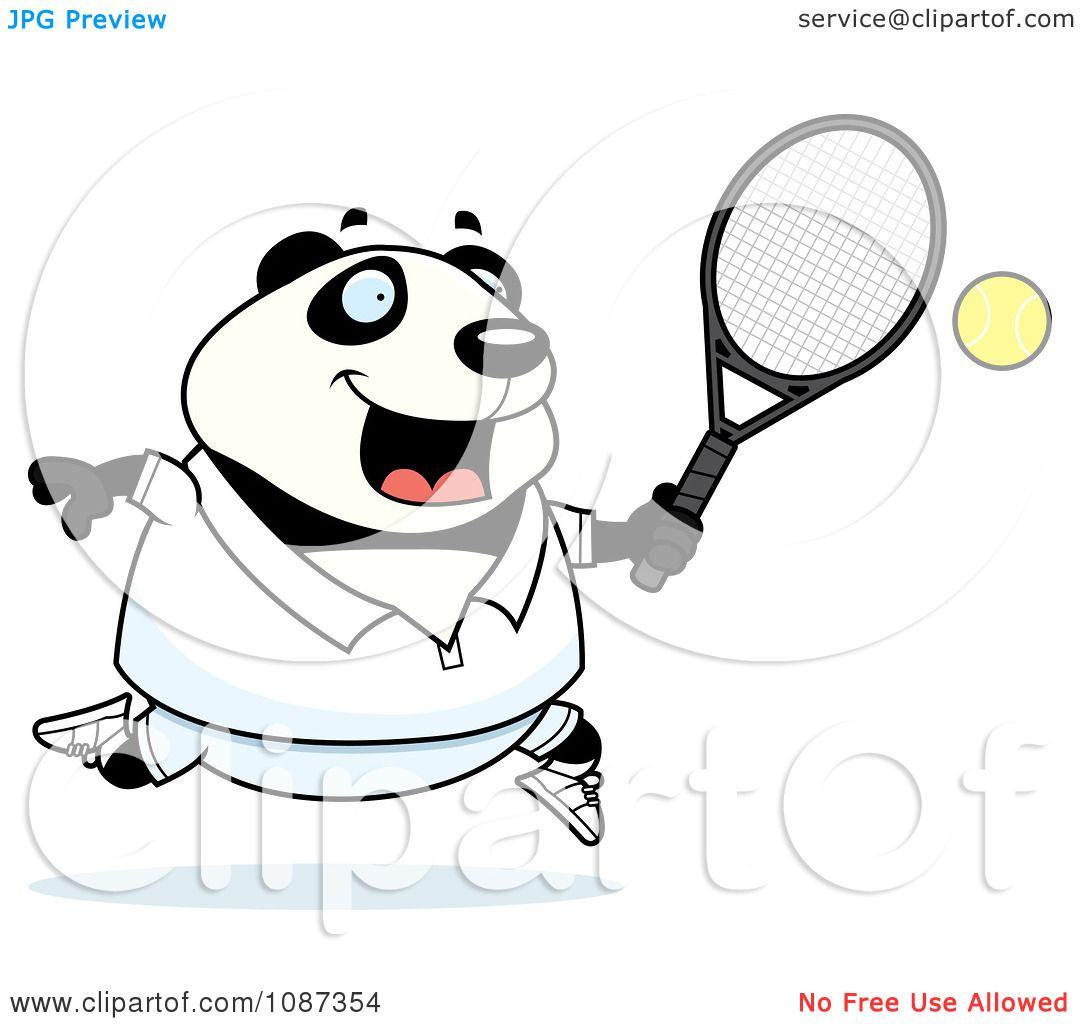 clipart panda tennis - photo #35