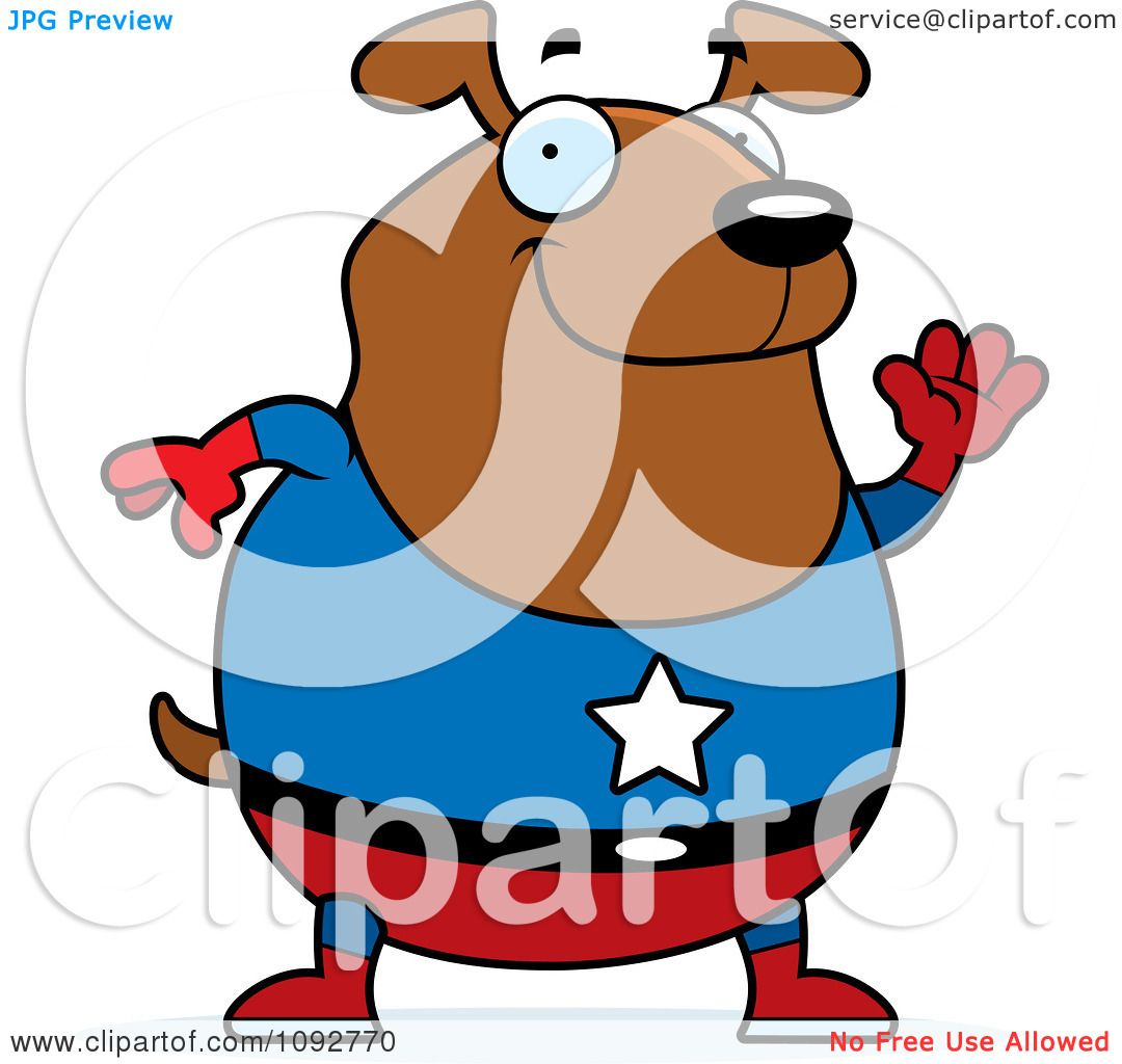 Clipart Service Dog Clipart Chubby Super Dog