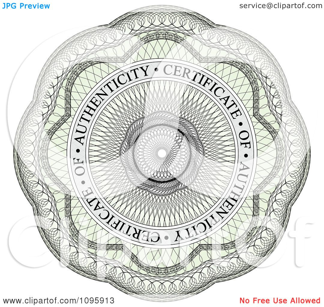 clipart circular certificate of authenticity guilloche seal