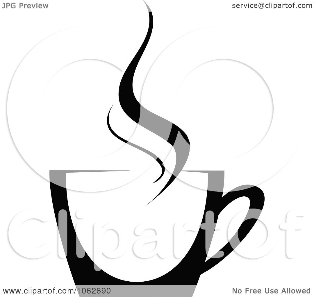Clipart Coffee In Black And White - Royalty Free Vector ...