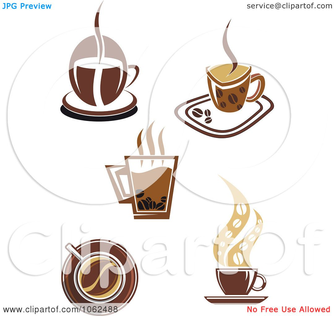 Clipart Coffee Logos Digital Collage 1 - Royalty Free ...