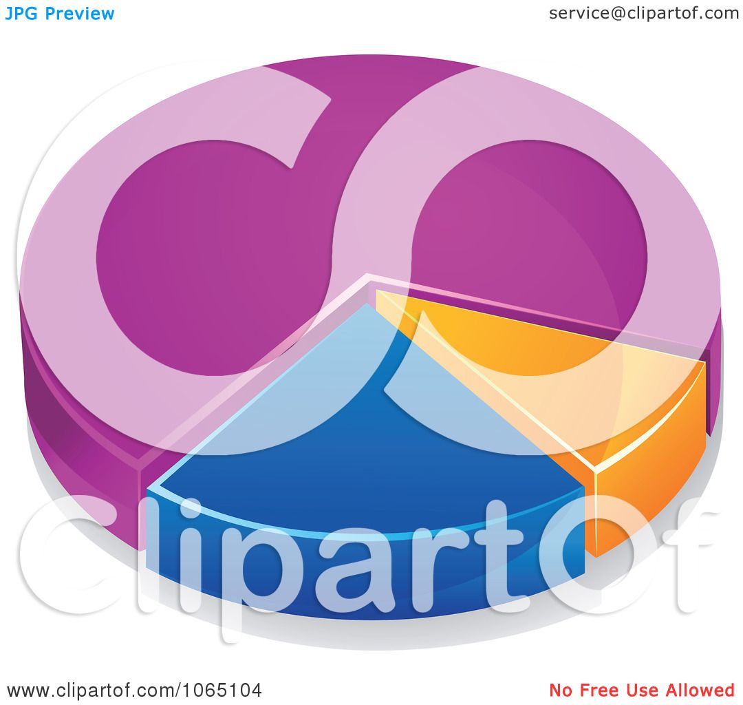 Clipart Colorful 3d Pie Chart 3 - Royalty Free Vector Illustration ...