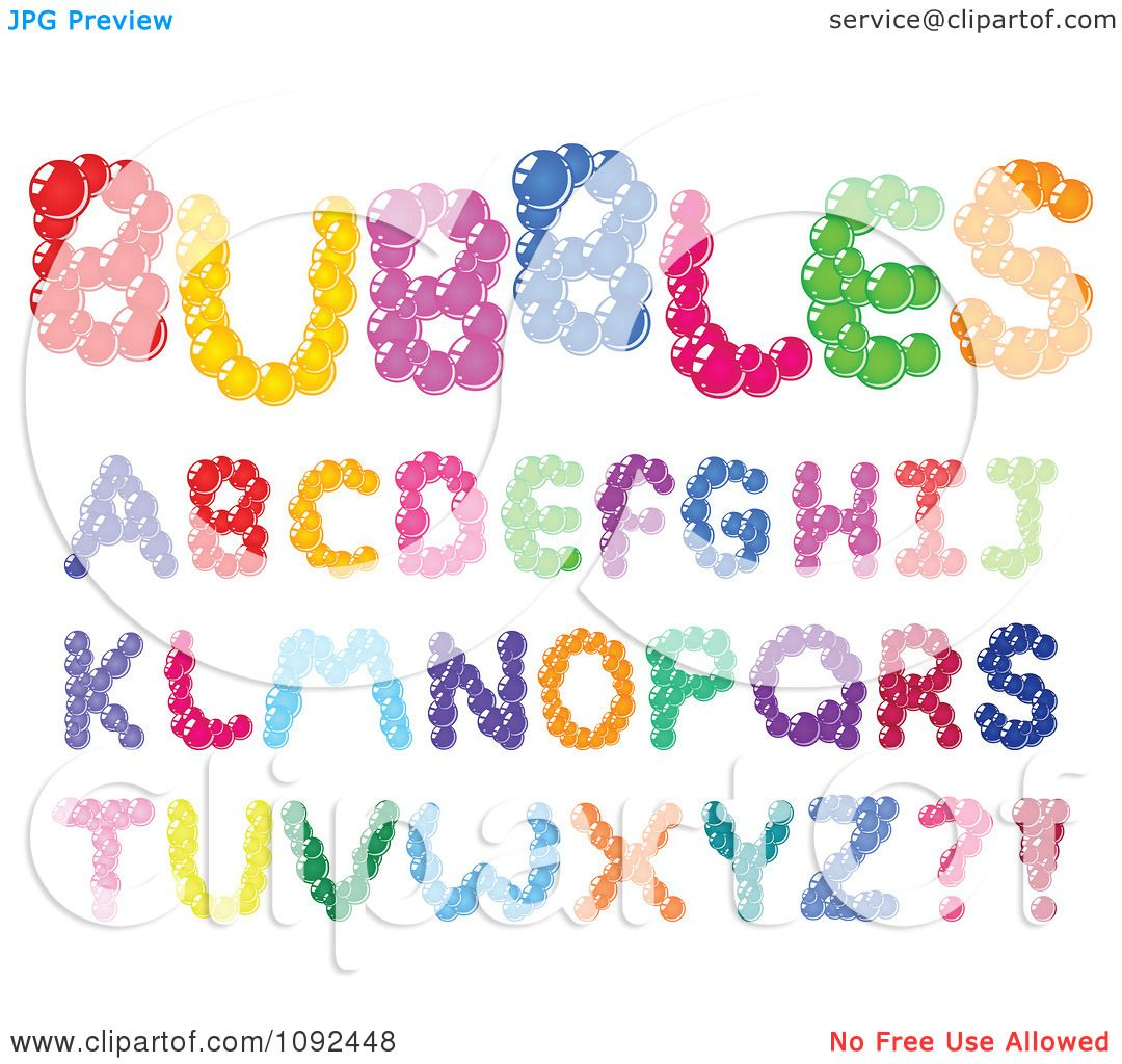 Clipart Colorful Bubble Capital Letter Design Elements